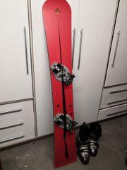 Snowboard mit Schuhen Gr 37