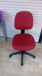 Schreibtischstuhl Bürostuhl rot neuwertig
