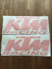 2 KTM Racing Aufkleber 60x24