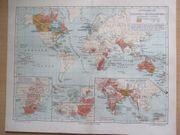 Entwickelung des Britischen Kolonialreiches Landkarte