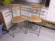 2 Design - Barhocher Holz Edelstahl