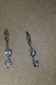 Modeschmuck Ohrhänger mit Herz