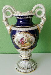Meissen Schlangenhalsvase Vase Prunkvase mit