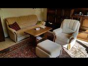 Couchgarnitur mit Sessel Hocker und