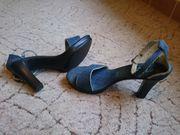 Damen Jeans Sandaletten High Heels