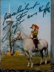 Autogrammkarte Jäger aus Kurpfalz