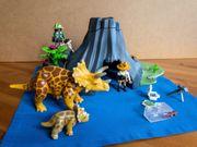 Playmobil Dinosaurier mit Vulkan