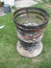 Feuerkorb Feuerstelle mit Untersetzer und