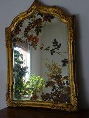 Alter Spiegel mit Blumen handgemalt