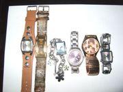 6 Armbanduhren Damen und Herren