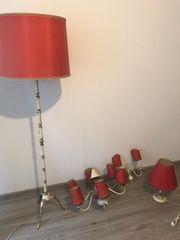 Antikes Messing-Lampenset zu verkaufen