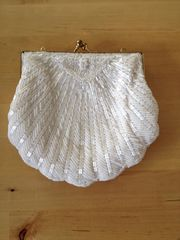 Vintage Abendtasche mit eingenähte Perlen