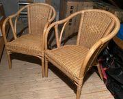 Rattan Stühle mit Armlehne in