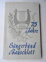 Festschrift 75 Jahre Gesangverein Sängerbund