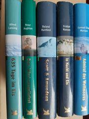 5 Bücher von Polarexpeditionen und