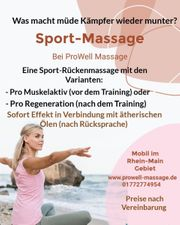 Mobile Sport-Rückenmassage