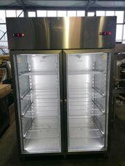 Edelstahlkühlschrank Kühlschrank mit 2 Glastüren