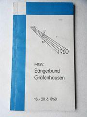 Festschrift MGV Sängerbund Gräfenhausen zum