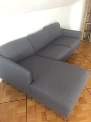 Eckgarnitur Sofa in Grau mit