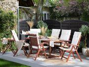 Gartenmöbel Set Akazienholz 6-Sitzer rechteckig