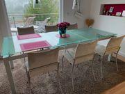Glastisch ausziehbar Ligne Rose Stühle