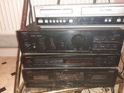 Hollywoodschaukel und Stereoanlage Videorecorder