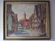 Original Ölbild Dinkelsbühl von Otto