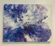 Gemälde Acrylbild Pouring Abstrakt Keilrahmen