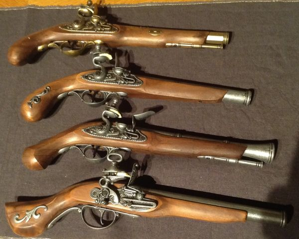 Steinschloßpistole - 1800 Jh - Dekoartikel