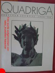 Quadriga Berliner Journal 1989 Nr