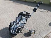 Golf Caddy mit Golftasche