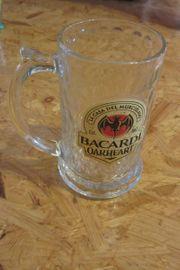3 Bacardi Oakheart Krüge Gläser
