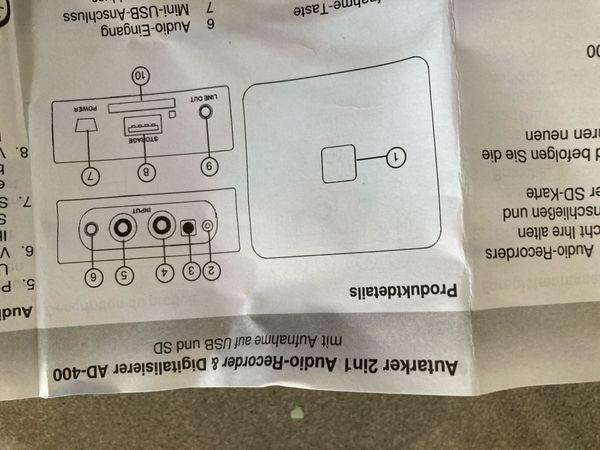 Audio Recorder u Digitalisierer