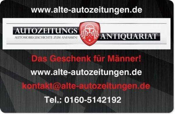 Alte-Autozeitungen - Das Geschenk für Männer