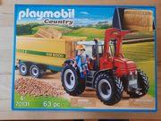 Playmobil Traktor mit Anhänger 70131