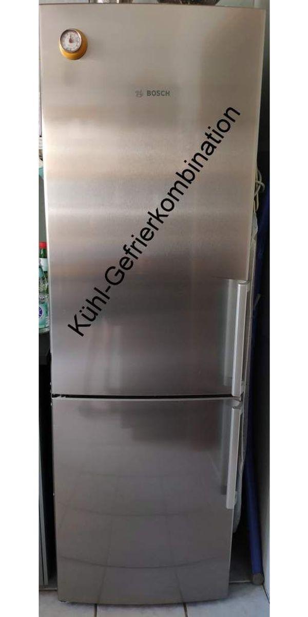 Bosch Edelstahl Kühl-Gefrierkombination