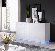 Kommode Sideboard REJA 2D weiß