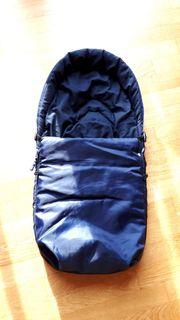 Baby Fußsack dunkelblau