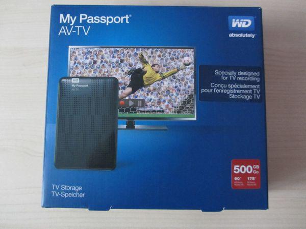 WD- My Passport AV-TV Speicher