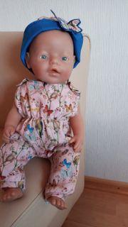 Puppenkleidung 2-teilig Overall mit Stirnband
