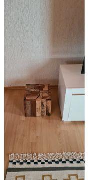 Holztisch hocker