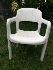 Gartenstühle - Kunststoff weiß