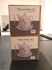 Teekannen-Set aus Porzellan