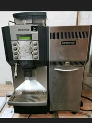 Bremer kaffeevollautomat mit Kühlschrank