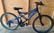 Mountenbike Blau Schwarz 26 Zoll