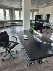 Bürotisch Schreibtisch Esche Massivholz mit
