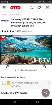 smart tv 55 Zoll UHD