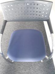 25 Büro- Besucher- Konferenzstühle blau