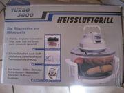 Heißluftgrill Turbo 3000 mit Zubehör