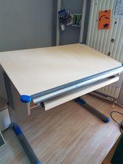 Gut ehrhaltener höhenverstellbarer Schreibtisch für